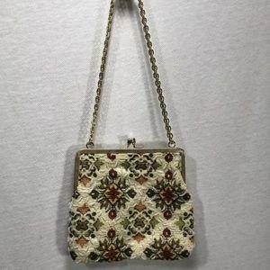 4/$35 Fine Arts Bag Purse floral beaded design
